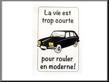 """-Binnenruit auto sticker """"la vie est trop court"""""""
