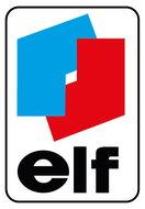 "Binnenruit sticker ""elf"" 7 x 4,5 cm."