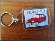 Sleutelhanger Renault 16 TL (rood).