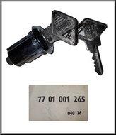 Slot R16 1975-1977 met centrale deurvergrendeling (2 sleutels).