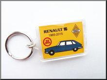 Sleutelhanger Renault 16 50 jaar (blauw).