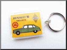 Sleutelhanger Renault 16 50 jaar (groen).
