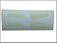 Transparante sticker voor het luchtfilter R16 TS.