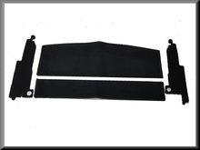 Hoedenplank en c-stijl bekleding zwart (velours).