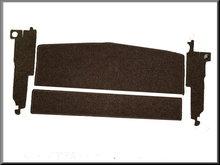 Hoedenplank en c-stijl bekleding bruin (boucle).